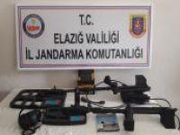 Elazığ'da dedektörle arama yapan 7 kişi yakalandı