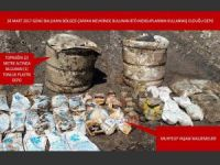PKK'ye ait bir ton yaşam malzemesi ele geçirildi
