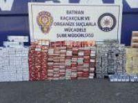 Batman'da 100 bin TL değerinde kaçak sigara ele geçirildi