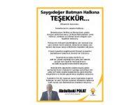 Batman AK Parti SKM'den referandum teşekkür mesajı