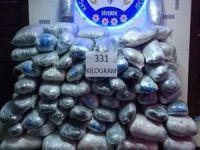 Şanlıurfa'da 331 kilogram esrar yakalandı
