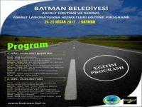 Batman Belediyesi personeline İSFALT'tan asfalt eğitimi