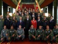 Cumhurbaşkanı Erdoğan, Pilotları kabul etti