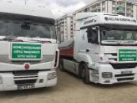 Ergani'den Suriye'ye 2 TIR insani yardım
