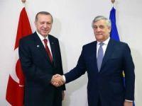 Cumhurbaşkanı Erdoğan, Tajani'yi kabul etti