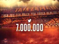 Galatasaray'ın Aslanları Twitter'de 7 Milyona ulaştı
