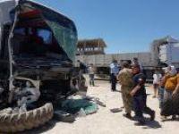 Yolcu otobüsüyle TIR çarpıştı: 12 yaralı