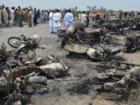 Pakistan'da yakıt tankeri patladı: 148 ölü