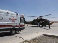 Yaralı çoban helikopterle hastaneye kaldırıldı