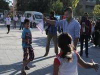 Mardin'de çocuklar oyun oynayarak eğlendi