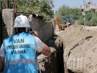Hasanbey caddesinde kanalizasyon hattı yenileniyor