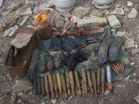 Hakkari'de el bombası ve çok sayıda mühimmat ele geçirildi