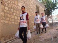 Yasinler Mazıdağı'nda ihtiyaç sahibi ailelere et ulaştırdı