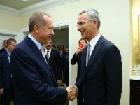 Erdoğan,Stoltenberg'i kabul etti