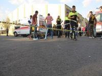 Öğrenci servis aracı motosiklete çarptı!