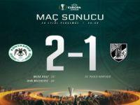 Atiker Konyaspor'dan Avrupa'da siftah: 2-1