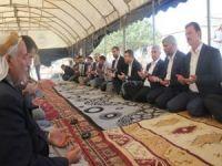 HÜDA PAR'dan pamuk yığınında hayatını kaybeden çocuklarıa taziye ziyareti