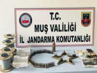 Muş'ta PKK'ya ait mühimmat ele geçirildi