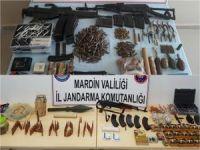 Mardin'de çok sayıda silah ve mühimmat ele geçirildi