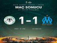 Konyaspor son anda yıkıldı: 1-1