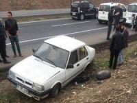 """""""Kudüs'e Sahip Çıkıyoruz"""" mitingine giden otomobil kaza yaptı"""