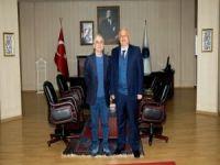 Emekli Tümgeneral Bereceli'den Rektör Durmuş'a ziyaret