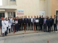 Batman Bölge Hastanesinde bir grup öğretmen topluca sigarayı bıraktı