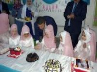 4-6 yaş Kur'an kursu öğrencileri karnelerini merasimle aldı