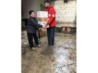 Kızılay'dan yardıma muhtaç ailelere yapılan yardım çalışmaları