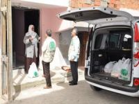 Batman Umut Kervanı 100 aileye kırmızı et ve gıda yardımı yaptı