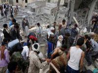 Suudi öncülüğündeki koalisyon Yemen'i bombaladı: 33 ölü