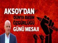Aksoy'dan dünya basın özgürlüğü günü mesajı