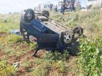 Mardin'de araç şarampole yuvarlandı: 5 yaralı
