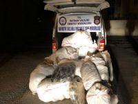 Kaçan araçta 265 kilo esrar ele geçirildi