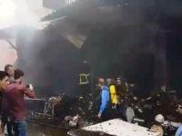 Erbil'de yangın: 120 dükkan yandı