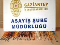 Gaziantep'te iş yerinde tespih hırsızlığı