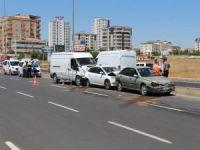 Diyarbakır'da zincirleme kaza! 2 yaralı
