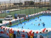 Çocuklar tatillerini yüzmeyi öğrenerek geçirecek