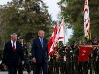 Cumhurbaşkanı Erdoğan, KKTC Cumhurbaşkanlığı Sarayında