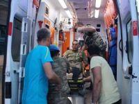 Siirt'te çıkan yangında 5 asker zehirlendi