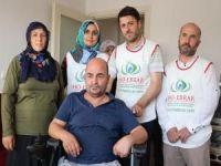 IHO-EBRAR'dan felçli hastaya akülü sandalye