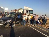 Mardin'de trafik kazası: Biri bebek 4 yaralı
