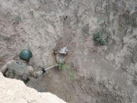 Toprağa gömülü patlayıcı imha edildi