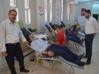 Kan toplama aracı Kozluk'ta