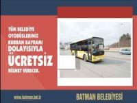 Batman'da belediye otobüsler bayramda ücretsiz hizmet verecek