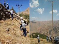 Elektrik direklerini bin 618 metreye taşıdılar