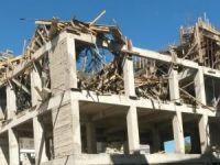Beton dökümü esnasında inşaat çöktü: 2 yaralı