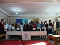Robotik Kodlama kursuna katılan kursiyerlere sertifika