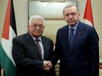 Mahmud Abbas Cumhurbaşkanı Erdoğan'ı aradı