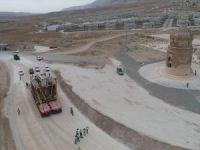 Hasankeyf Kalesi Orta Kapısı'nın taşıması havadan görüntülendi